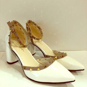 Women's Square High Heels Shoes SZ 7 *NEW*